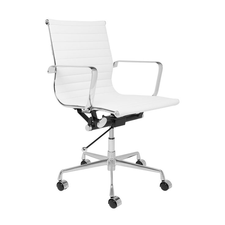 SOHO Ribbed Management Chair (White) - SHIPS FEBRUARY 14TH