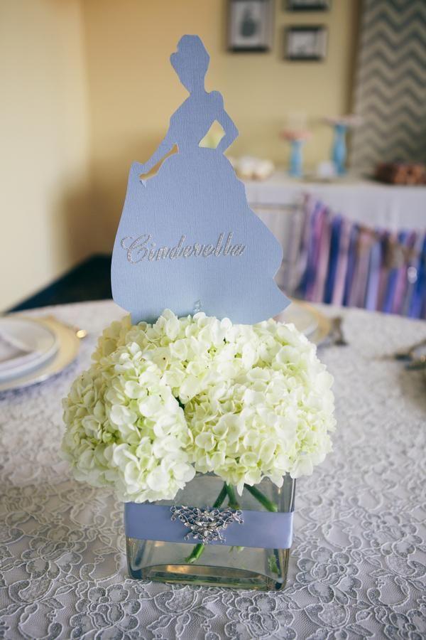 Princess Silhouette Flower Centerpiece. Disney Princess  CenterpiecesCinderella Party DecorationsCinderella ... - 49 Best {Cinderella Quinceanera Theme} Images On Pinterest