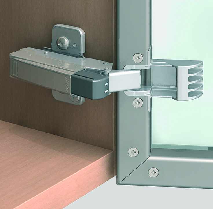 CLIP Top 120 Degree Self Closing Aluminum Door Hinge With 973A0500.01  BLUMOTION Soft
