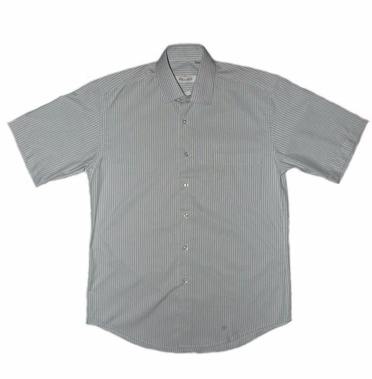 Серая рубашка в полоску по супер выгодной цене 1500 руб руб, с бесплатной доставкой по Москве и России без предоплаты. В наличие размеры 4XL, 2XL, M, приезжайте к нам в магазин!