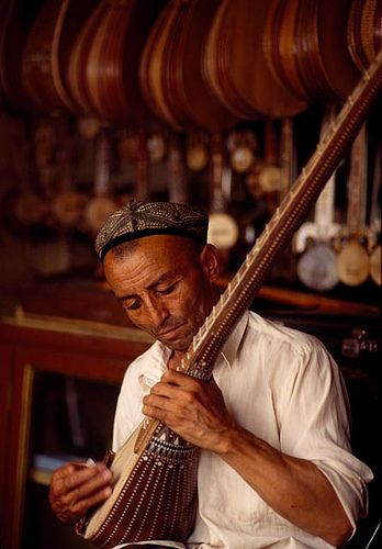 Musician from Kashgar China