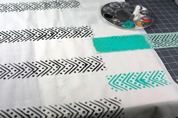 Great idea for Mother's Day: #diy stamped scarf. #mothersday www2.fiskars.com