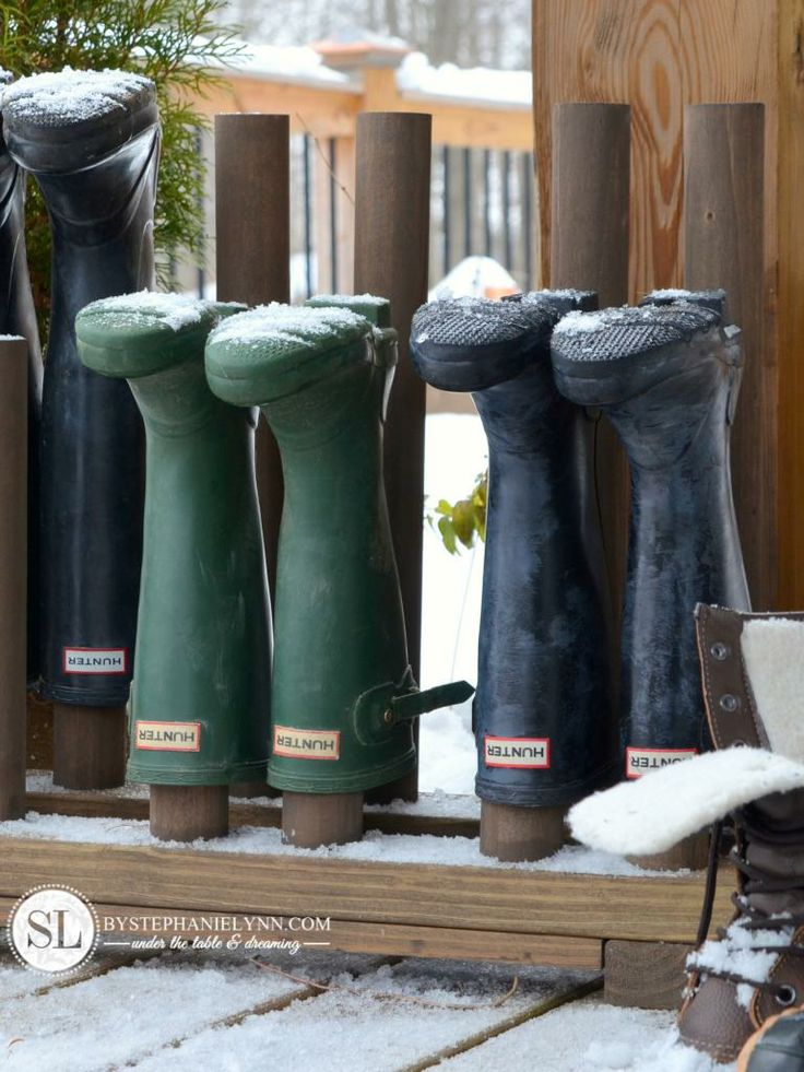 How to Build a Boot Rack-  I really need this.  Looks like a good project for when the weather gets nice.