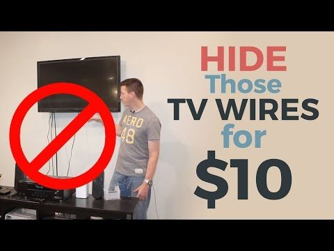 How to Hide Hanging TV Ugly Wires—TV Mount Hacks