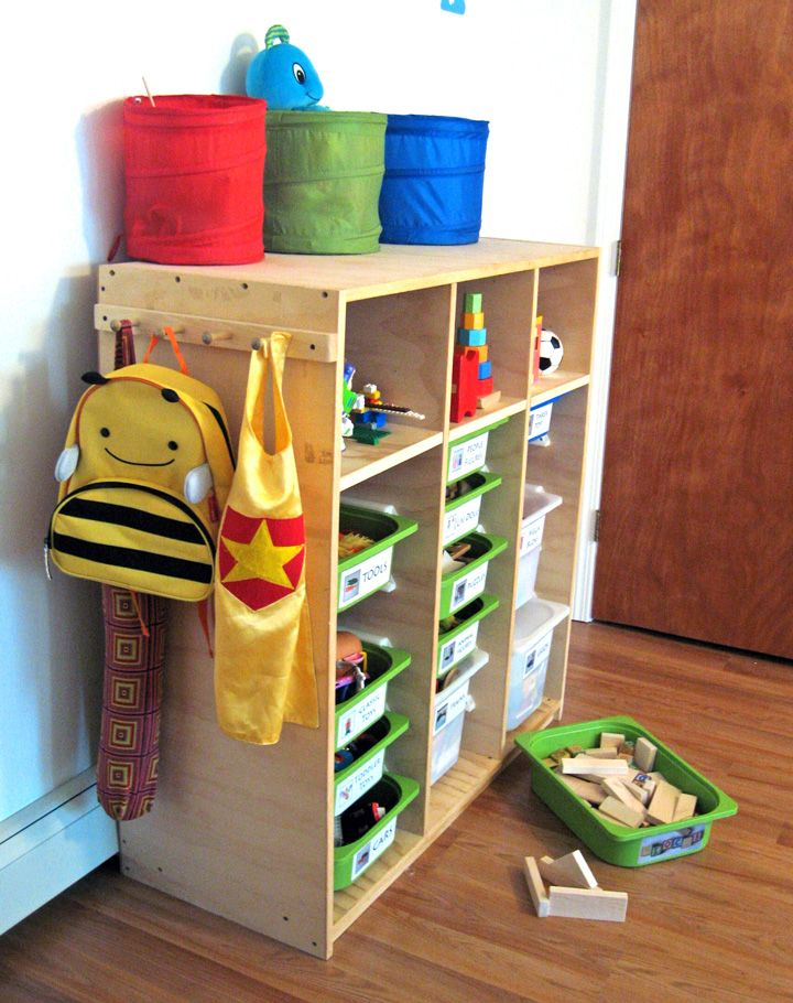 Trofast Toy Storage Solution Note To Self Two Of These Back To Back In The Center Of Our