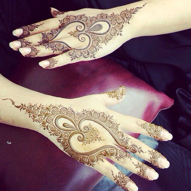 Gorgeous Back Of Hand #Henna Heart Design.