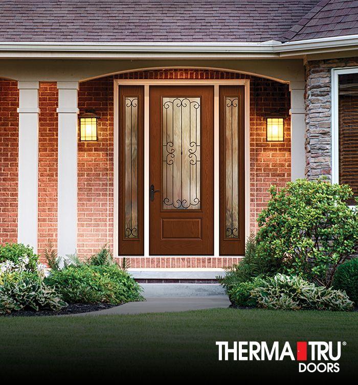 Therma tru fiber classic oak collection fiberglass door for Therma tru maple park
