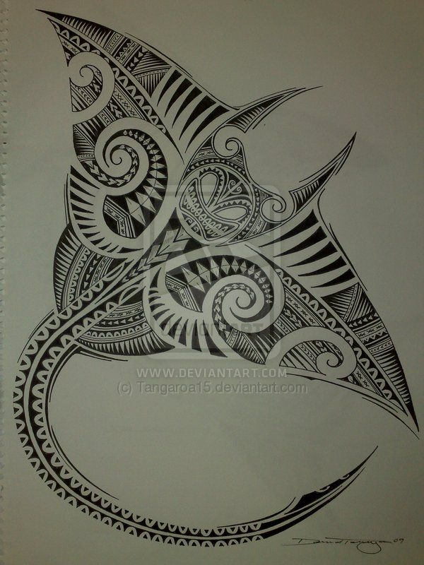 Polynesian Manta Ray by ~Tangaroa15 on deviantART                                                                                                                                                                                 More
