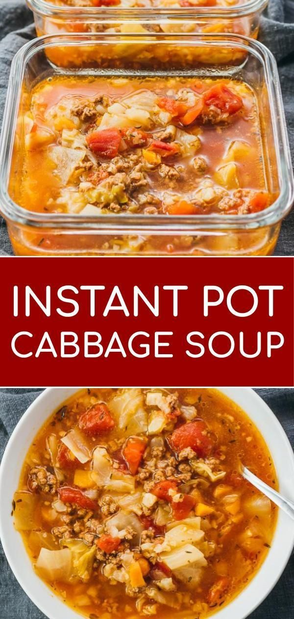 This Hearty Instant Pot Cabbage Soup Recipe With Ground Beef Is Great For Anyone On A Cabbage Soup Recipes Instant Pot Dinner Recipes Instant Pot Soup Recipes