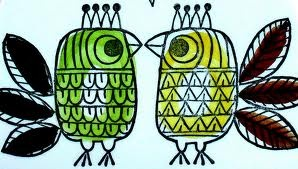 Swedish bird design.