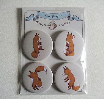 Dancing Fox Pin Badge Pack