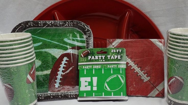 American football theme party tableware set for 14 cups