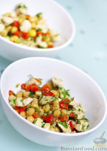 Рецепт: Полезный салат с нутом на RussianFood.com