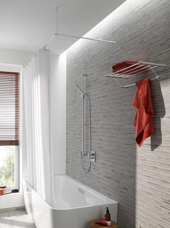8 besten duschvorhangstangen bilder auf pinterest edelstahl badezimmer und entwurf. Black Bedroom Furniture Sets. Home Design Ideas