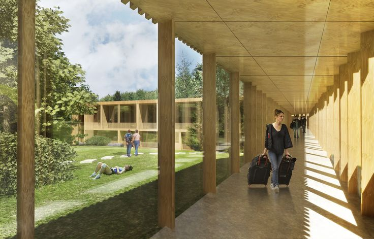 Parad Clinic and Hotel designed by 4D Architects modern minimal architecture wood facade