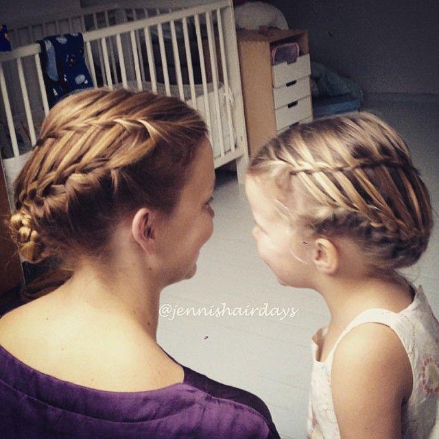 Matching ladder braid updos by Jenni's Hairdays Tikapuulettikampauksia