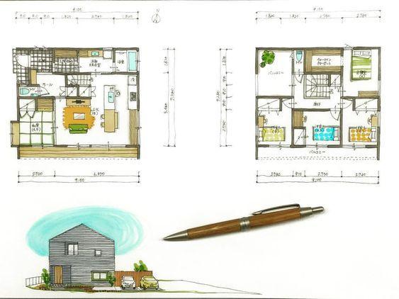 いいね!37件、コメント1件 ― 設計士くろちゃんさん(@kuro_chan_collabo)のInstagramアカウント: 「三角屋根のシンプルハウス。玄関収納から水周りへの動線にひと工夫。子供3人と夫婦がワイワイ楽しむ36坪のお家。#36坪#5LDK#間取り#三角屋根#ガルバ#出窓#土間収納#シューズクローク#アイランドキッチン#設計士とつくる#デザイナーズ住宅#デザイン住宅#コラボハウス#香川#愛媛」