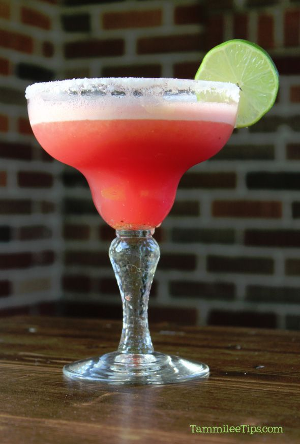 Watermelon Margarita...but tequila-less.  Add rum or something equally delicious!