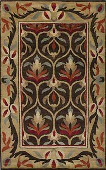 Arts and Crafts rug, Bungalow Rug, Craftsman rug, Mission Rug. Thick hand-knotted wool for plush beauty. A keepsake for Mission, Arts and Crafts, Bungalows or Craftsman homes. Red-1000