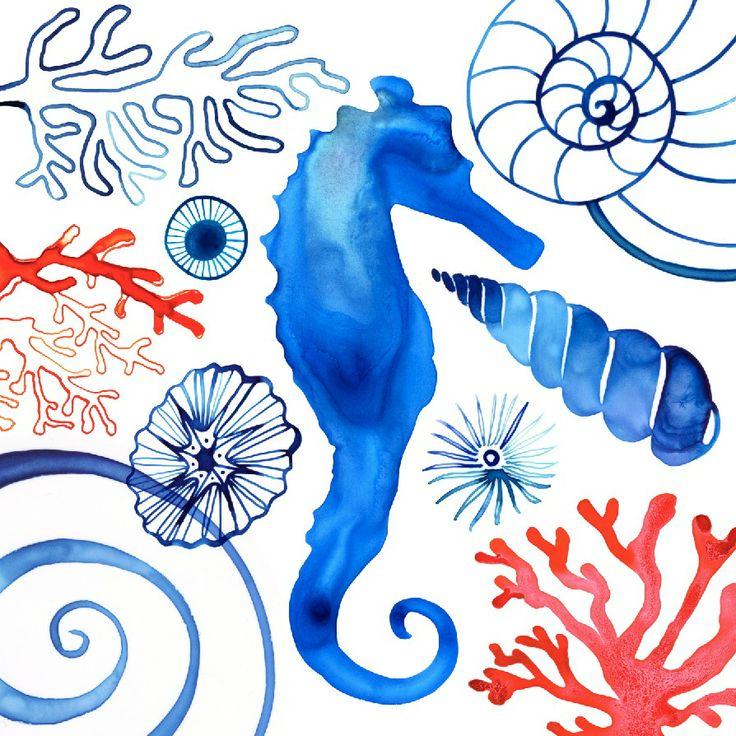 Seahorse by © Margaret Berg www.margaretbergart.com