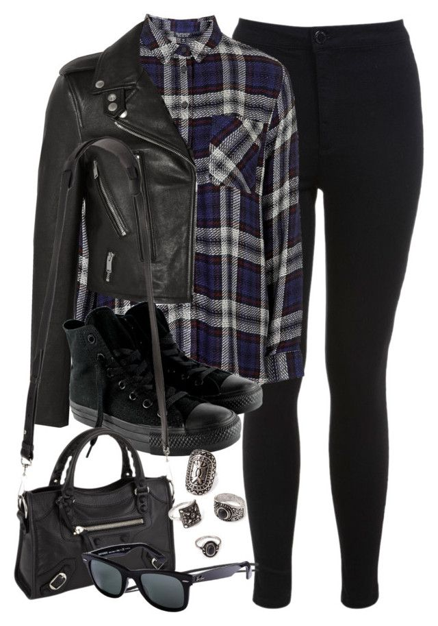 """""""Style #9764"""" by vany-alvarado ❤ liked on Polyvore featuring Miss Selfridge, Topshop, Yves Saint Laurent, Converse, Balenciaga, Ray-Ban, Forever 21, women's clothing, women and female"""