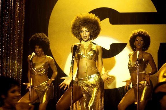 """Pin for Later: The Best Bikini Moments in Movies Beyoncé, Austin Powers in Goldmember Thanks to her shiny gold bikini top, Foxxy Cleopatra definitely has the """"foxy"""" part down."""
