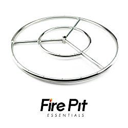 Round Fire Pit Burner Ring by Fire Pit Essentials (Stainless Steel, 24 inch)