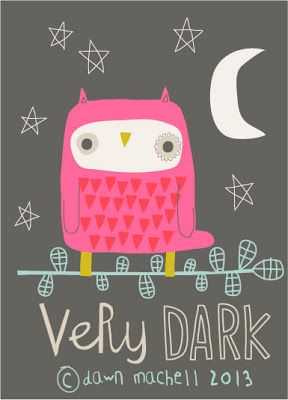pink owl by Dawn Machell