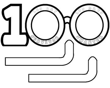 100 Days of School glasses