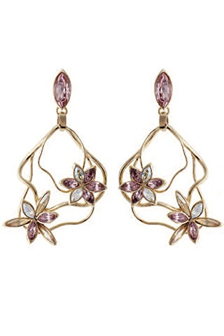 Spring fresh floral drop earrings at Atelier Swarovski by Stefano Poletti