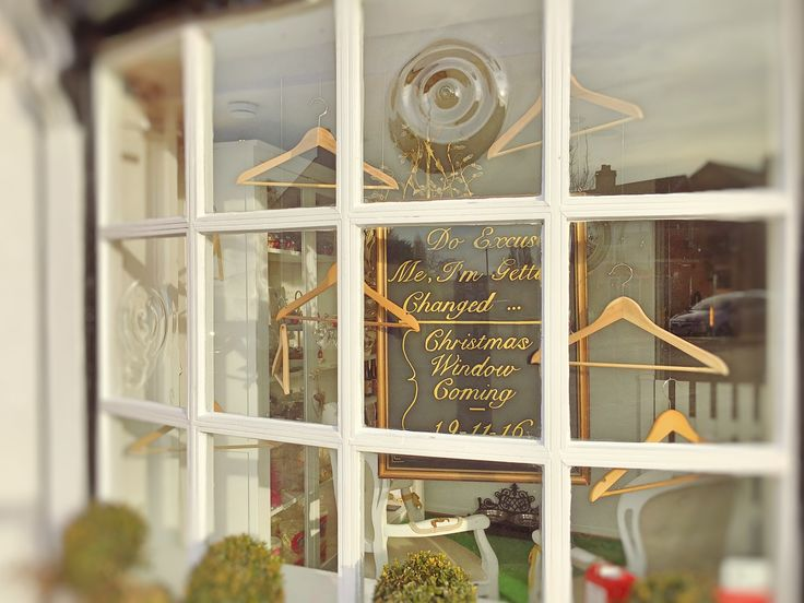Our transitional window display