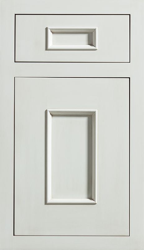 Middleton Inset Door shown in White Paint with PLatinum