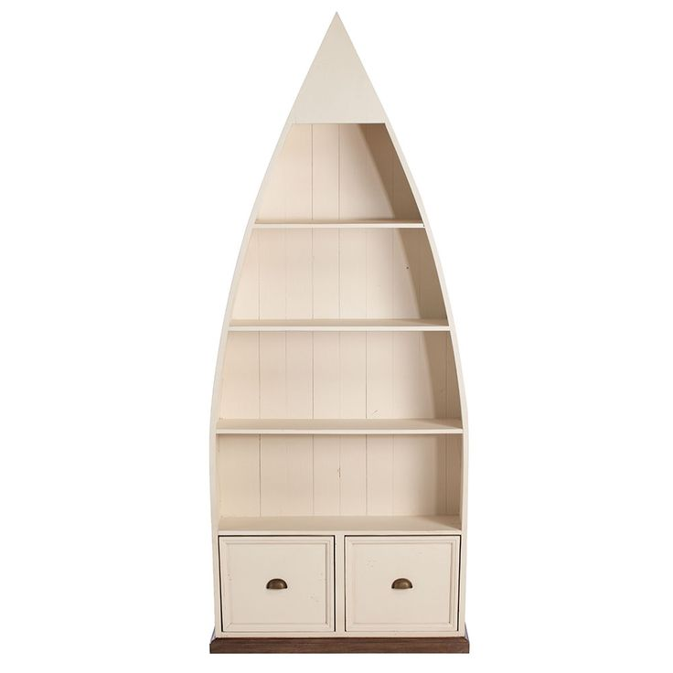 Get the nautical look with the Berkshire Boat Bookcase, made from reclaimed wood with a chic stucco white finish.
