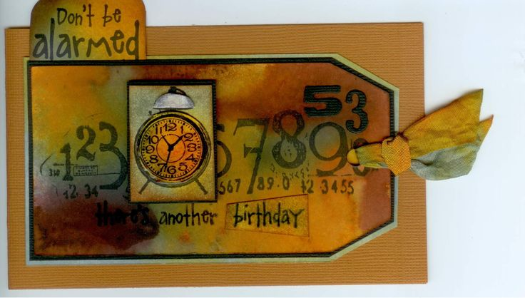 Stamp-it Australia: 4214C Alarm Clock, 4299D Don't be Alarmed, 3503E Mixed Numbers. Card by Susan of Art Attic Studio