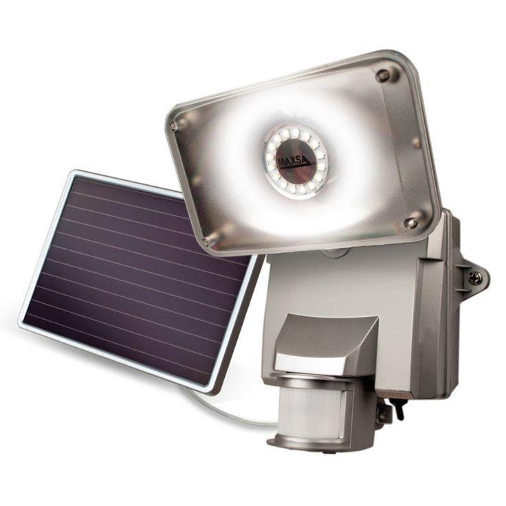 Maxsa Solar-Powered LED Security Floodlight - 44640