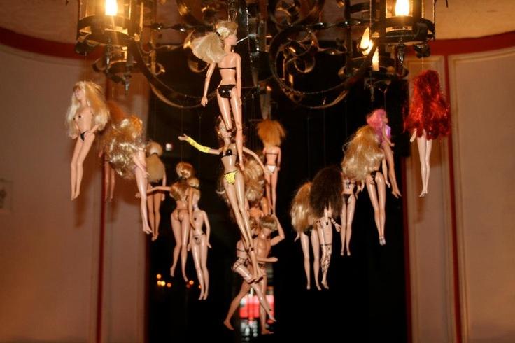 Dollhouse Party by CE - Barbie Chandelier - http://www.couture-events.biz/portfolio/