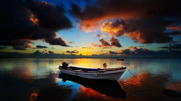 Günbatımı Deniz Manzarası