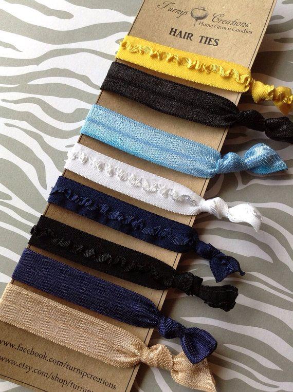 FOE Hair Ties School Uniform Plaid Colors Navy, Blue ...