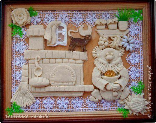 Картина панно рисунок Лепка Домовёнок Солёное тесто Тесто соленое фото 2