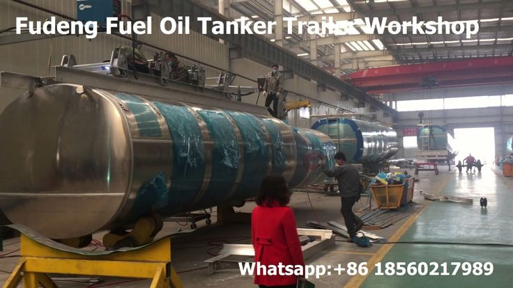 China Widely used fuel tanker semi trailer , fuel oil tanker workshop , ...