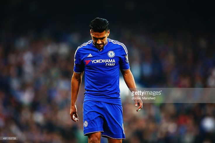 Radamel Falcao Garcia of Chelsea reacts during the Barclays Premier League match between Chelsea and Southampton at Stamford Bridge on October 3, 2015 in London, United Kingdom.  (Photo by Jordan Mansfield/Getty Images)