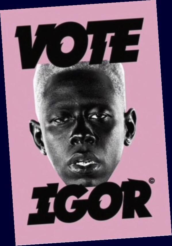 tyler the creator igor vote poster
