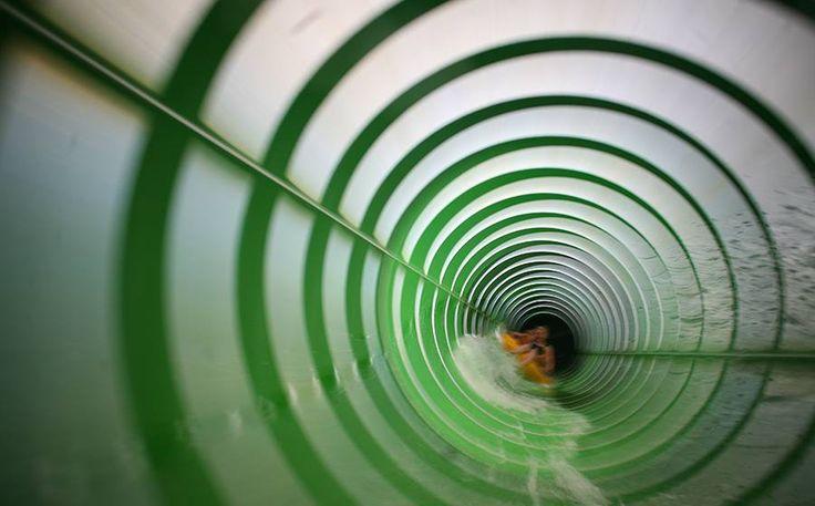 Zielona zjeżdżalnia w #chocholowskichtermach kusi #fun #play #holiday