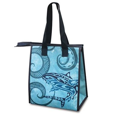 Small Non-Woven Insulated Lunch Bags Tribal Shark