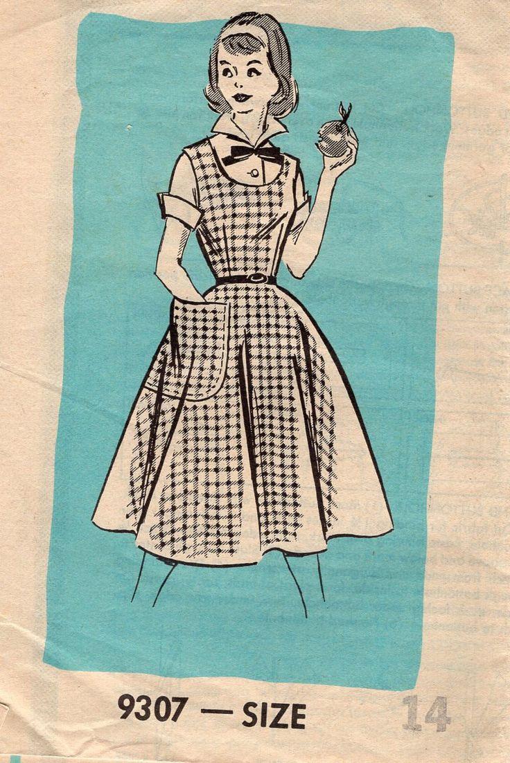 Free Us Ship Sewing Pattern Vintage Retro 1950s 50s Mail Order Sewing Pattern Jumper HUGE pocket Blouse Unused Bust 36 Teenager by LanetzLiving on Etsy
