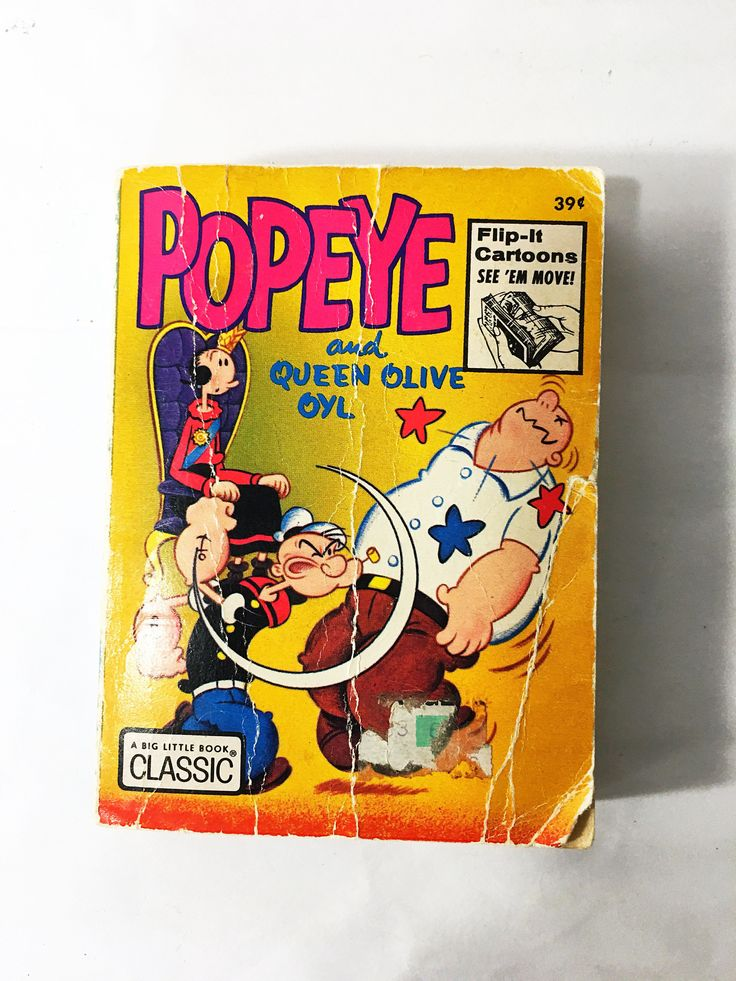 Popeye and Olive Oyl Book. Flip Book. Whitman Big Little Book. Little Golden Book. Circa 1973. Vintage Children's Book.