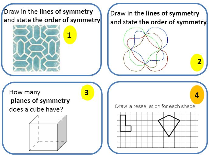Maths Revision relays - Revision relays covering number, shape and space, algebra and data handling individually.