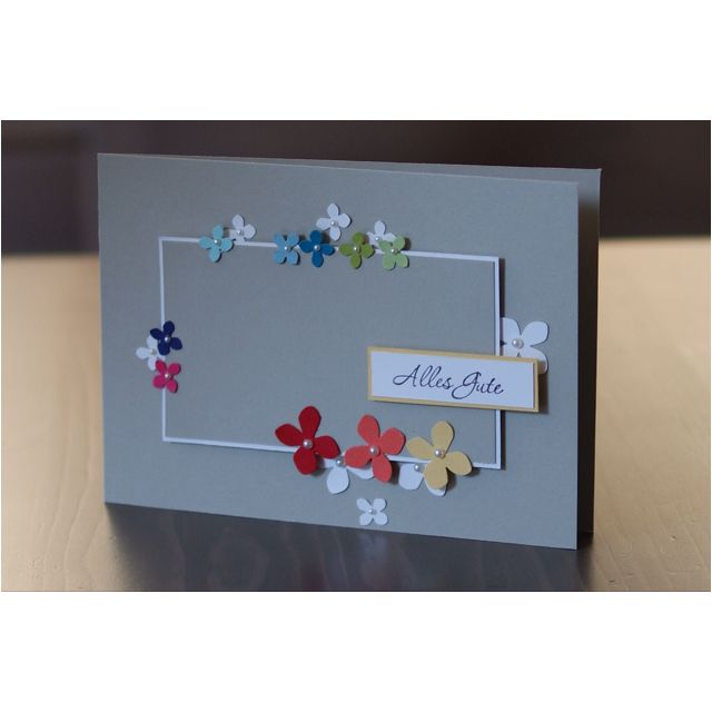 What works better for spring than a bunch of flowers? Stampin' Up! has a trio of small punches that would work great for this card.