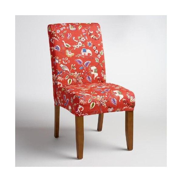 Cost Plus World Market Red Elephant Anna Chair Slipcover 35 Liked On Polyvore