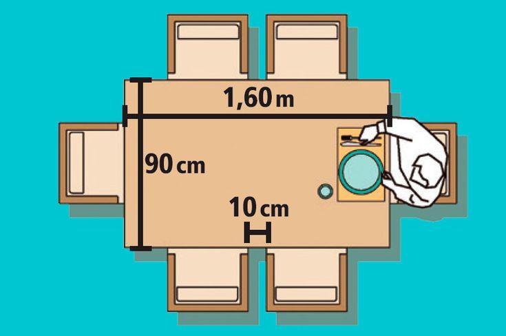 Medidas MESA DE JANTAR RETANGULAR 6 lugares - Quer uma retangular menor? Aproveite as extremidades. A largura de 1,60 m é suficiente para que o da ponta divida a área com os vizinhos das laterais maiores.